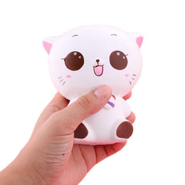 Cream Jumbo Animals squishy kitty cat Squeeze Kid Toy Charm Gift for Relief Stress white cat squishy
