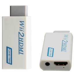 2017 convertisseurs vidéo Grossiste-Blanc Pour Wii à HDMI Convertisseur d'Adaptateur Wii2HDMI Full HD 1080P Sortie Sortie Audio Vidéo 3,5mm Vente Chaude convertisseurs vidéo sortie