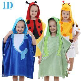 Wholesale IDGIRL Baby Bathrobes Cotton Hooded Animal Modeling Children Bathrobe Cartoon Baby Towel Year Kid Spa Towels YE0014