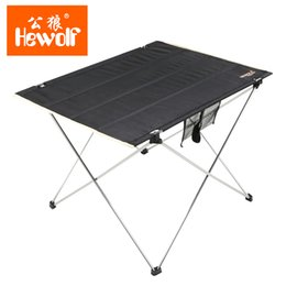 Wholesale Original Hewolf Ultralight Portable Aluminum Alloy Foldable Tables Oxford Cloth Outdoor Leisure Camping Barbecue Table Furniture