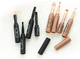 Wholesale Four makeup brush splicing type portable package Makeup beginners beauty makeup tools