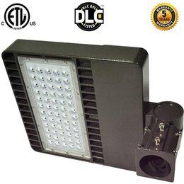Wholesale ETL DLC LED Parking Light Shoe Box Lamps Shoebox Light Parking Area Lamp Led Floodlight Street Light W W W W led retrofit kit