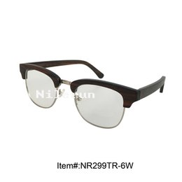 metal full frame ebony wood half frame optical reading glasses
