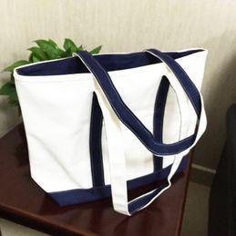 Wholesale Cloth bags Shoulder Bags Plain canvas bag female handbag one shoulder bag shopping bag Blue free shopping