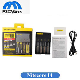 Original Nitecore I4 Charger Universal Charger for 18650 16340 26650 10440 AA AAA 14500 Battery Nitecore Battery Charger