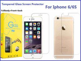 Acheter en ligne Écrans 4s-Pour iPhone 6S Fullbody Protecteur d'écran en verre trempé pour Iphone 6 Plus 7 Plus 5S 4S 9H Dureté 0.3mm Premium Toughened Film