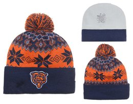 Wholesale top Sale football Bears Chicago beanies Winter High Quality Beanie For Men Women Skull Caps Skullies Knit Cotton Hats