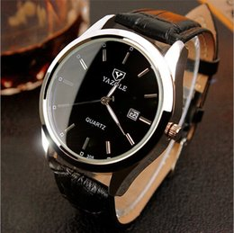 Luxury brand YAZOLE watch white black high quality casual fashion men's wristwatch leather band waterproof quartz watch