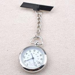 Wholesale NEW Antique Hot Sale Stainless Steel Medical Doctor Brooch Fob Quartz Cross Nurse Silver Pocket Watch ZX MPJ089 C9