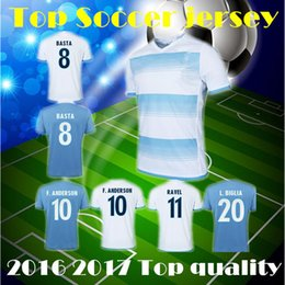 Wholesale Thai Quality SOCCER JERSEY lazio basta DJORDJEVIC ANDERSON Soccer Uniform Football Jerseys soccer kit football shirt