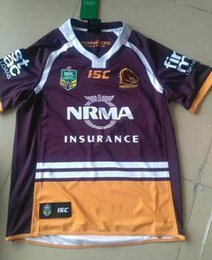 Wholesale 2016 NRL National Rugby League Brisbane red new jersey High temperature heat transfer printing jersey Rugby Shirts stitched