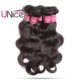 UNice Hair Malaysian Body Wave Unprocessed 8-30inch 1Piece 100%Human Hair Bundles Hair Weave No Remy Natural Color