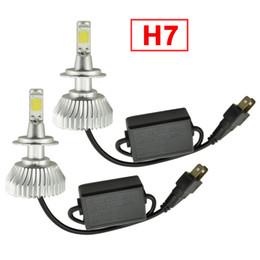 FEELDO Super Bright H7 6000K Blanc 60W 6400LM Car COB LED Kit phare Lampes à brouillard Lampe au xénon à partir de blanc xénon conduit h7 fabricateur