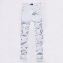 Trade New Pattern Man Solid Color Joker Leisure Time Youth Self-cultivation White Male jeans for men Hot