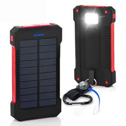 Wholesale Shock drop resistance Waterproof Solar Power Bank mah Dual USB Bateria Externa Portable Solar Charger Powerbank for phone