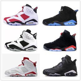 6 Classic 6s black blue UNC black white Infrared basketball shoes alternate sport blue carmine white black cat Oreo sneakers for men women