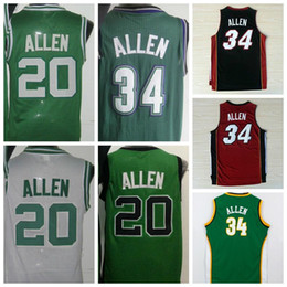 Wholesale Hot Retro Ray Allen Uniforms Jesus Shuttleswort Jersey Film lincoln School Shirt Rev Red White Green Black Yellow Purple