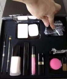 Wholesale Valentine s Day gift Makeup pack Set Cosmetic Set Makeup medium Mascara Eyeliner Lipstick Cosmetic Set with C logo Valentine present