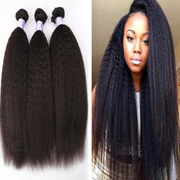 Promotion 18 black hair 8A Pas Cher Cheveux Virgin Mongole Droite Yaki Cheveux Humains Tisse Yaki 8
