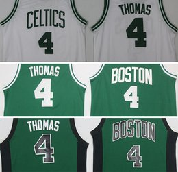 Promotion maillots de sport Nouveaux arrivages TOP 2017 CELTICS THOMAS # 4 blanc / BOSTON THOMAS # 4 green Jersey Jersey