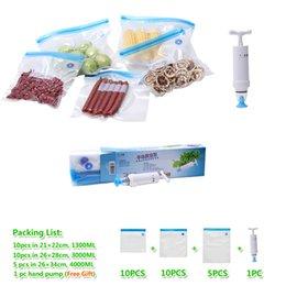 Wholesale Vacuum zipper bags patent in China Vacuum food packaging bags set with hand pump Best vacuum storage bags