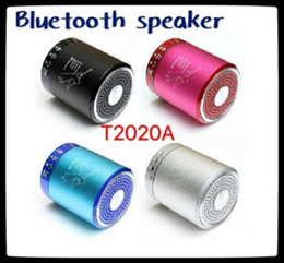 Wholesale Original T2020A mini bluetooth speaker with Led light super bass sound support TF card USB disk FM handsfree