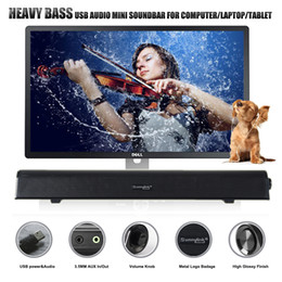 NEW HEAVY BASS USB SOUNDBAR SPEAKER , MINI SOUND BAR COMPUTER SPEAKER, WITH USB AUX IN AUX OUT , SLIMLINE DESIGN OUTPUT POWER 10 WATTS