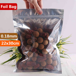 22x30cm Translucent Packaging Smell Proof Bags Mylar Aluminum Foil Zip Lock Food Showcase Laminating Zipper Heat Seal Snacks Package Pouch