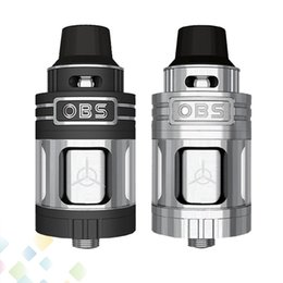 Wholesale Authentic OBS Engine RTA Tank ml Top Filling and Airflow Isolated Rebuild Deck Full Glass Window Atomizer DHL Free