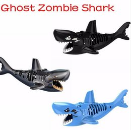2017 New Ghost Zombie Shark Action Bricks Single Sale Pirates of the Caribbean Building Bricks Toys For Children PG1008