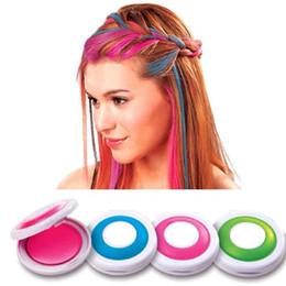 Wholesale 4pcs set Hair Chalk Dye Pastels Temporary Pastel Hair Extension Colors without Ammonia Pastel Professional Salon Hair Dye ZA1971