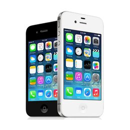 Original desbloqueado iPhone 4S teléfono 16 GB 32 GB 64 GB de doble núcleo WCDMA 3G WIFI GPS 8MP Cámara Remodelado Apple teléfono celular desde teléfono celular 3g wcdma proveedores