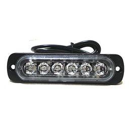 Universal 6-LED Red White Light 16-Flashing Mode Car Truck Warning Caution Emergency Construction Strobe LED LightBar