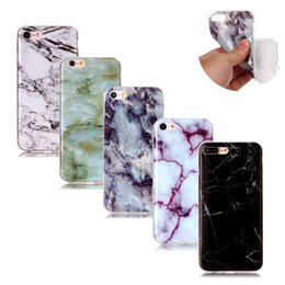Wholesale For iPhone inch NEW Marble Granite Stone Painted TPU Case For iPhone S PLUS inch SE S S Soft Silicon Phone Cover