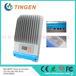 Регуляторы Контроллер заряда 60А ET6415BND 12В 24В 36В 48В авто Работа eTracer MPPT панели солнечных батарей от Производители панели солнечных батарей регулятора контроллер заряда