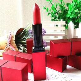 Acabado mate en venta-Moda húmedo persistente lápiz de labios 6 herramientas de maquillaje de labios de color Terciopelo mate Mattes acabado Belleza arte de la etapa
