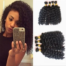Le tressage des cheveux 12 pouces à vendre-Peruvian Human Hair Bulk No Weft 4 Bundles Unprocessed Deep Wave Bulk Cheveux humains pour tressage 4-30 pouces FDSHINE HAIR