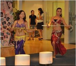 Jazz rosa en Línea-Nueva llegada Adultos Niños Bailes de danza de jazz Bailarín de danza del vientre Funciones de caña de bastón Prendas de vestir de oro de plata púrpura color rosa rojo