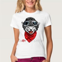 2016 shirt de douille d'impression des animaux gros Vente en gros-Hot Sale Mode Cute Happy Cat Imprimé T-shirt Femmes d'été / Fille Funny Animal Cool Nouveauté Tee-shirt manches courtes Vêtements shirt de douille d'impression des animaux gros sortie
