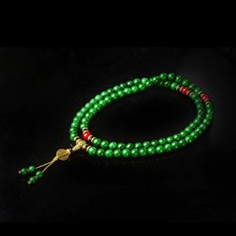 China Collectibles Handwork Jade Toyed Prayer Bead Necklace