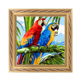 High Quatity DIY 5D Diamond Painting Embroidery Painting Two Parrots Cross Stitch Craft Home Decor 25*25cm