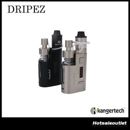 Wholesale Authentic Kanger DRIPEZ W Starter Kit with Two Pumps Fit ML bottles for Easy Liquid Addition Powered By Single Battery