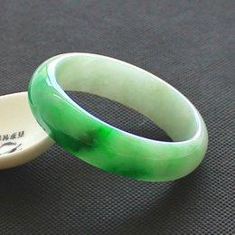 China traditional Natural Myanmar Jadeite Bracelet Jade Bangle green for women