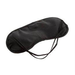 Wholesale 1000pc DHL Black Sleeping Eye Mask Blindfold Travel Sleep Aid Cover Light Guide Drop Shipping Hot
