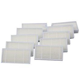 10 pcs Hepa filters for Dibea Depoo Panda X500 ECOVACS X500 X600 CR120 Vacuum Cleaner parts replacement