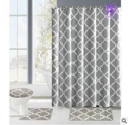Wholesale Shower Curtain Bathroom Rug Set Bath Mat Hooks