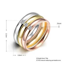 3 PCS / Set Zircon 316L Anneaux De Mariage En Acier Inoxydable Pour Les Femmes Or Plaqué Titane Cristal Engagement Finger Rings Femme 2016 à partir de bague de fiançailles en titane or fabricateur