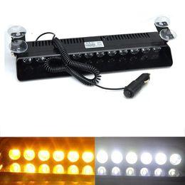 12 LED Car Truck Emergency Strobe Flash Light Sucker 12W 12V Dashboard Interior Windshield Warning Light Bar Current