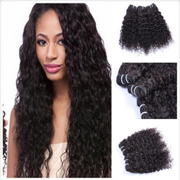2 Pcs 100% Unprocessed 7A Virgin Hair 10-26 inch Hot Selling Dyeable Natural Black Color Kinky Curly Brazilian Human Hair Weaves No Tangle
