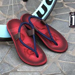 Compra Online Pantuflas transpirables para hombre-2017 sandalias de los nuevos de la venta de los hombres del verano de las sandalias de los zapatos respirables respirables ocasionales de la playa deslizan los deslizadores suaves de la REGLA de los zapatos cómodos frescos